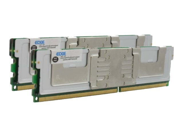 Edge 16GB PC2-5300 240-pin DDR2 SDRAM FBDIMM Kit, PE21735802, 30549459, Memory