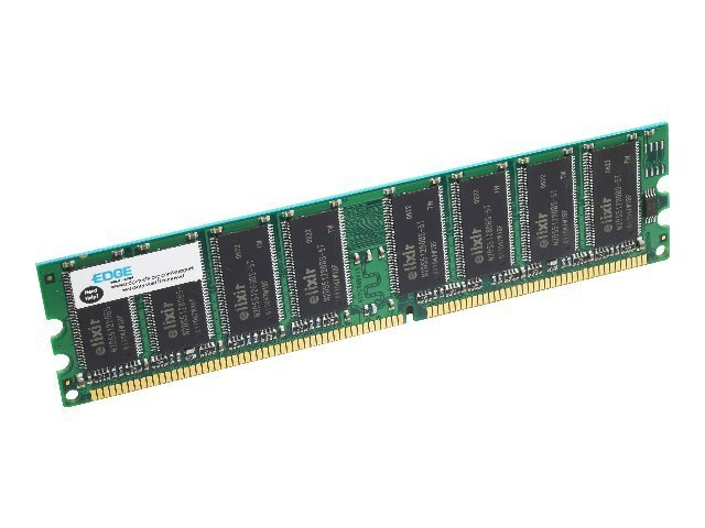 Edge 1GB PC3200 184-pin DDR SDRAM UDIMM, PE195069, 463419, Memory