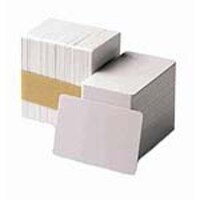 Datacard 2.13 x 3.37 Composite 30 Mil CR-80 White Plastic Blank Cards (500 Cards), 803094-025, 9525305, Paper, Labels & Other Print Media