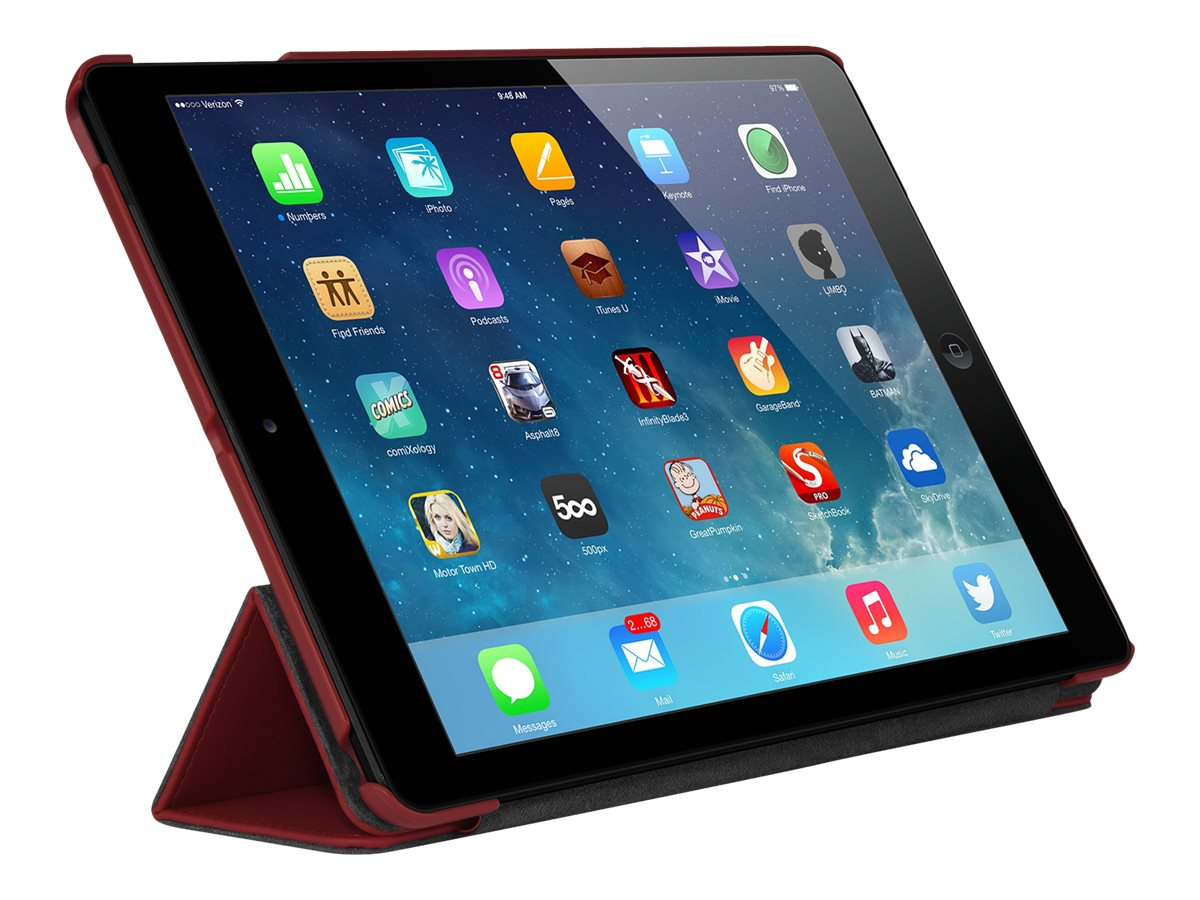 Targus Triad Case for iPad Air 5th Generation 9.7, Crimson Red
