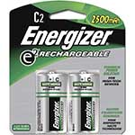 Energizer Battery, NiMH Rechargeable C 2500mAh (2-pack)