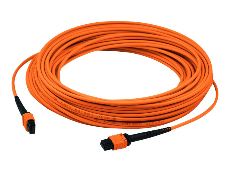 ACP-EP MPO-MPO F F 62.5 125 OM1 Multimode LSZH Duplex Fiber Cable, Orange, 8m