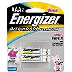 Energizer Battery, Advanced Lithium AAA (2-pack), EA92BP-2, 9556216, Batteries - Other