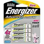 Energizer Battery, Advanced Lithium AAA (8-pack), EA92BP-8, 9556232, Batteries - Other