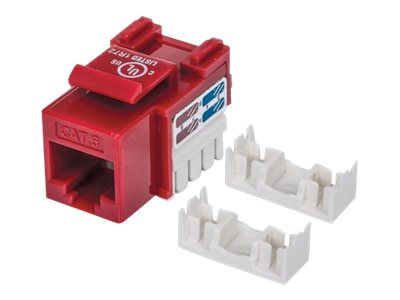 Manhattan Cat6 UTP Keystone Jack, Red, 210614