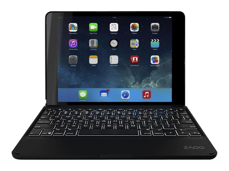 Zagg Keyboard Cover Case (Folio) for iPad Air 2, Black, ID6ZFK-BB0