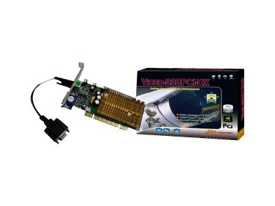 Jaton NVIDIA GeForce 6200 128MB DDR PCI Low Profile Support Dual VGA, VIDEO-338PCI-DX