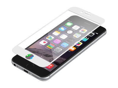 Zagg Invisibleshield Luxe Glass for iPhone 6 6S, White, IP6BGS-WH0