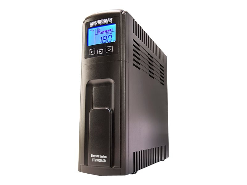 Minuteman Entrust LCD Series 1000VA UPS (10) Ports, USB, ETR1000LCD, 30678808, Battery Backup/UPS