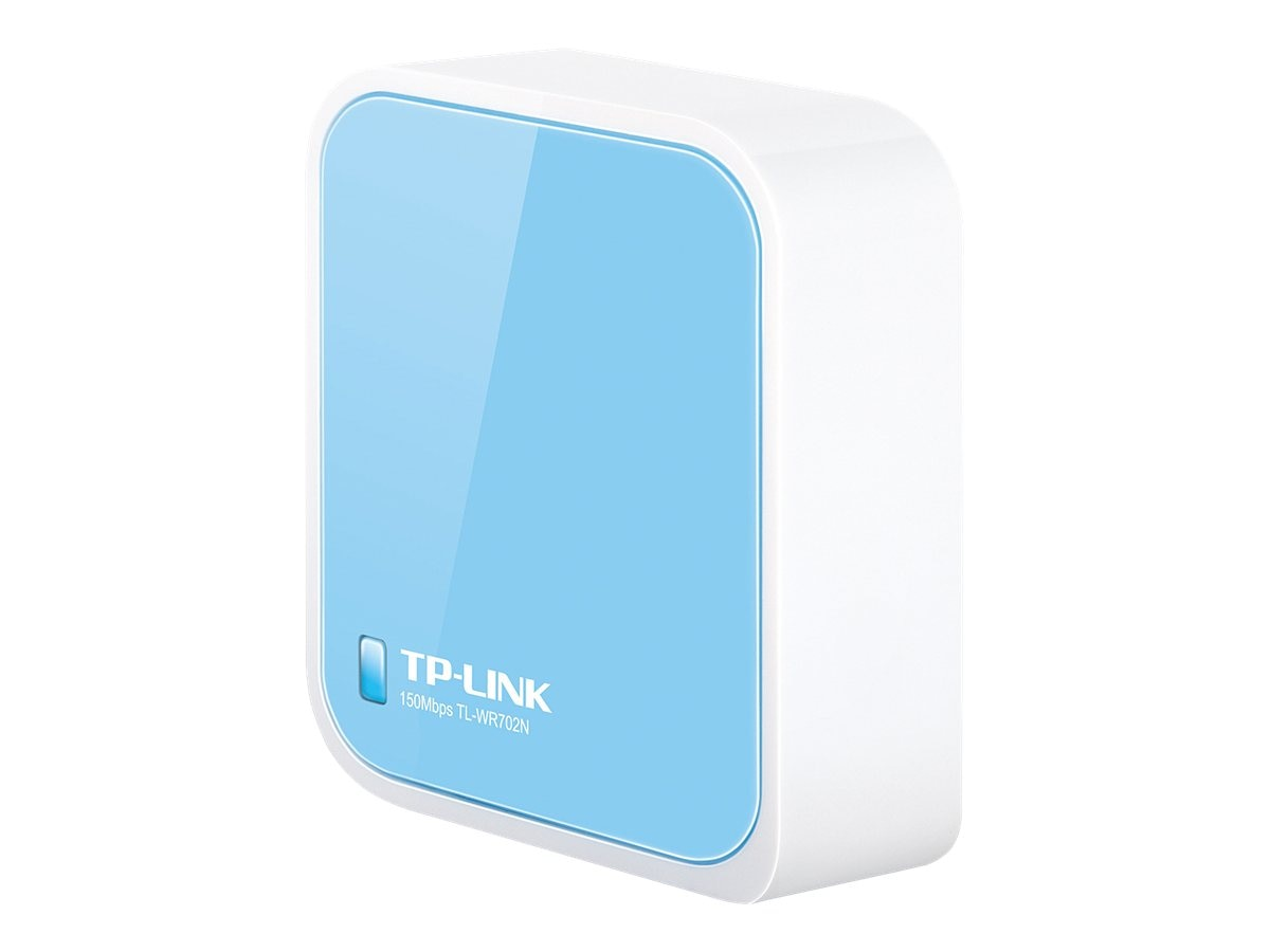 TP-LINK Wireless N150 Travel Router, Nano Size, Router AP Client Bridge Repeater Modes, 150Mpbs, USB Powered, TL-WR702N, 13922741, Wireless Routers