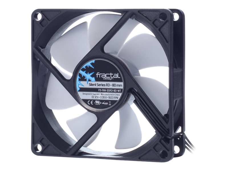 Fractal Design Silent Series R3 80mm Fan, FD-FAN-SSR3-80-WT, 22244989, Cooling Systems/Fans