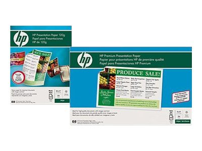 HP 8.5 x 11 Premium Inkjet Matte Presentation Paper - 120 gsm (100 Sheets), D0Z55A, 16180122, Paper, Labels & Other Print Media