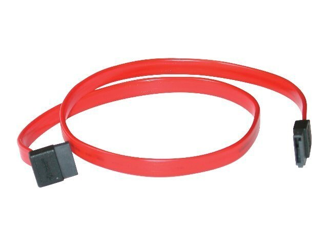 C2G 7-pin 180 to 90 degrees Serial ATA Device Cable, 18 (10181)