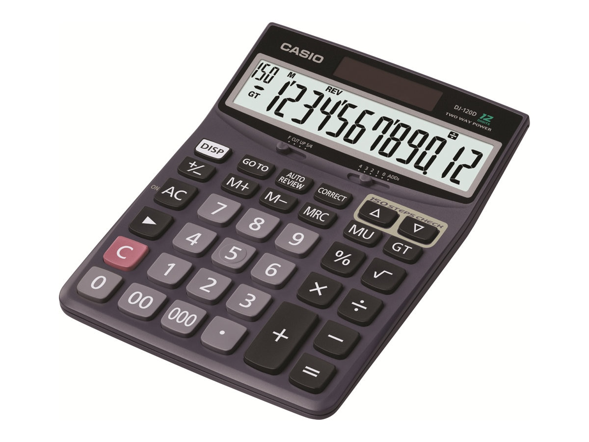 Casio Desk Top Calculator, DJ120D, 13855737, Calculators