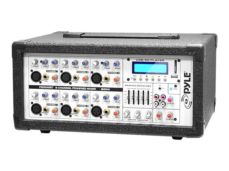 Pyle 600W 6-Channel BT Mixer, PMX640BT, 31478189, Music Hardware