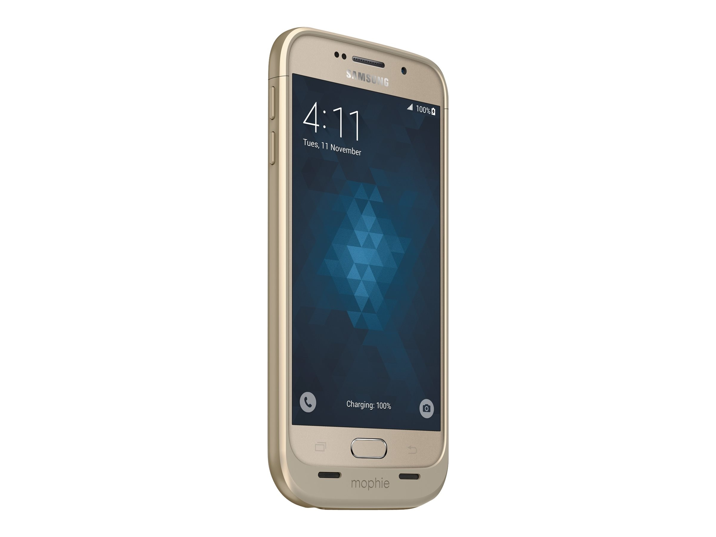 Mophie Juice Pack 3300mAh Battery for Galaxy S6, Gold, 3206