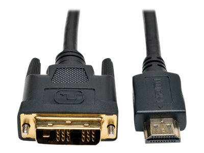 Tripp Lite HDMI to DVI M M Gold Digital Video Cable, 30ft, P566-030, 15994773, Cables
