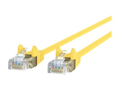 Belkin Cat6 UTP Patch Cable, Yellow, Snagless, 15ft, A3L980-15-YLW-S
