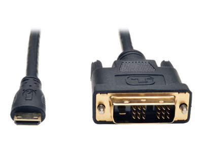 Tripp Lite Mini HDMI to DVI M M Adapter Cable, Black, 10ft, P566-010-MINI, 18466423, Cables