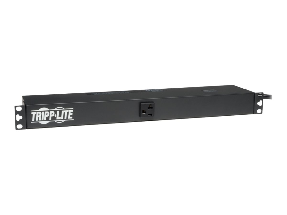 Tripp Lite PDU Basic 120V 20A 5-15 20R (13) Outlet L5-20P Horizontal 1U RM, PDU1220T, 4891779, Power Distribution Units