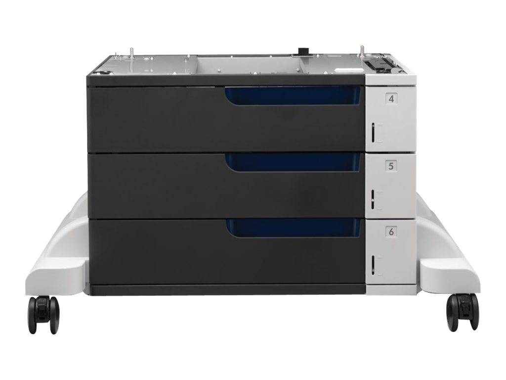 HP LaserJet 3x500-sheet Paper Feeder & Stand for HP Color LaserJet Enterprise M855dn, M855x+  & M855xh, C1N63A, 16639503, Printers - Input Trays/Feeders