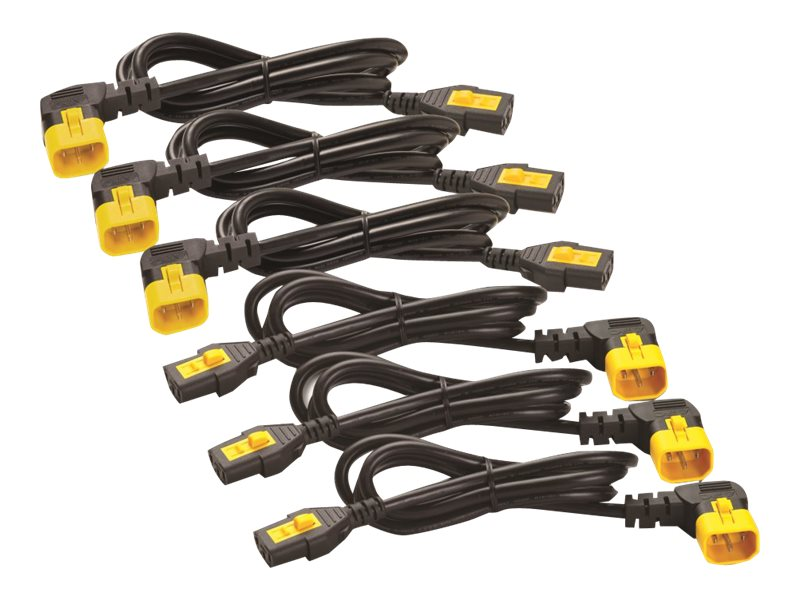 APC Power Cord Kit, Locking, R A, C13 to C14, 4ft 1.2m, North America (qty 6), AP8704R-NA, 15801644, Power Cords