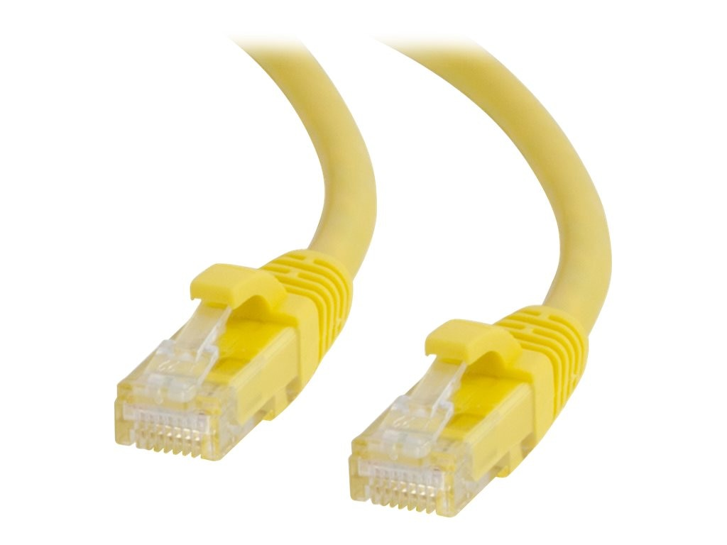 C2G Cat6 Snagless Unshielded (UTP) Network Patch Cable - Yellow, 1ft
