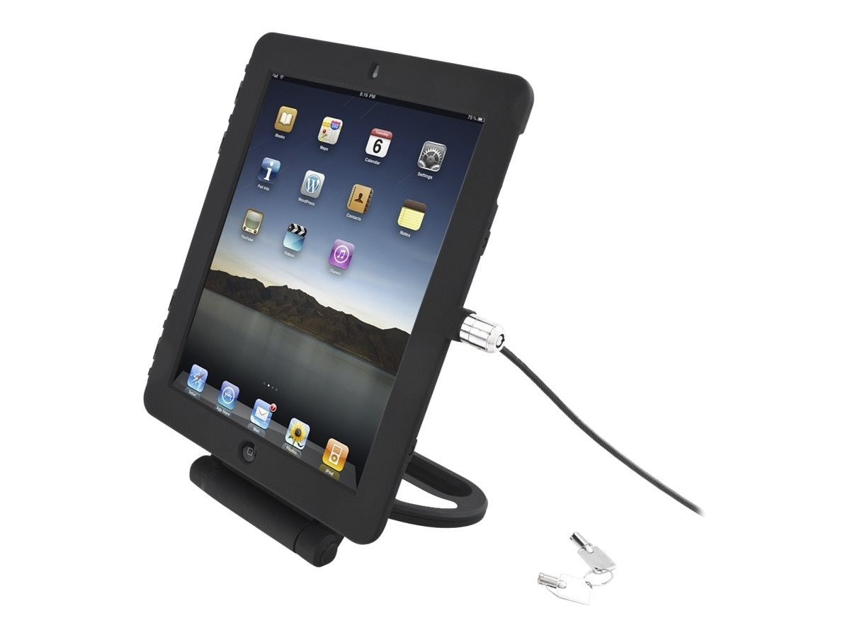 Compulocks iPad  Lock Secure Case with Rotate Stand and Cable Lock Security Option fits iPad 2 3 4, Black, IPAD2/3/4RSBB, 16208244, Security Hardware