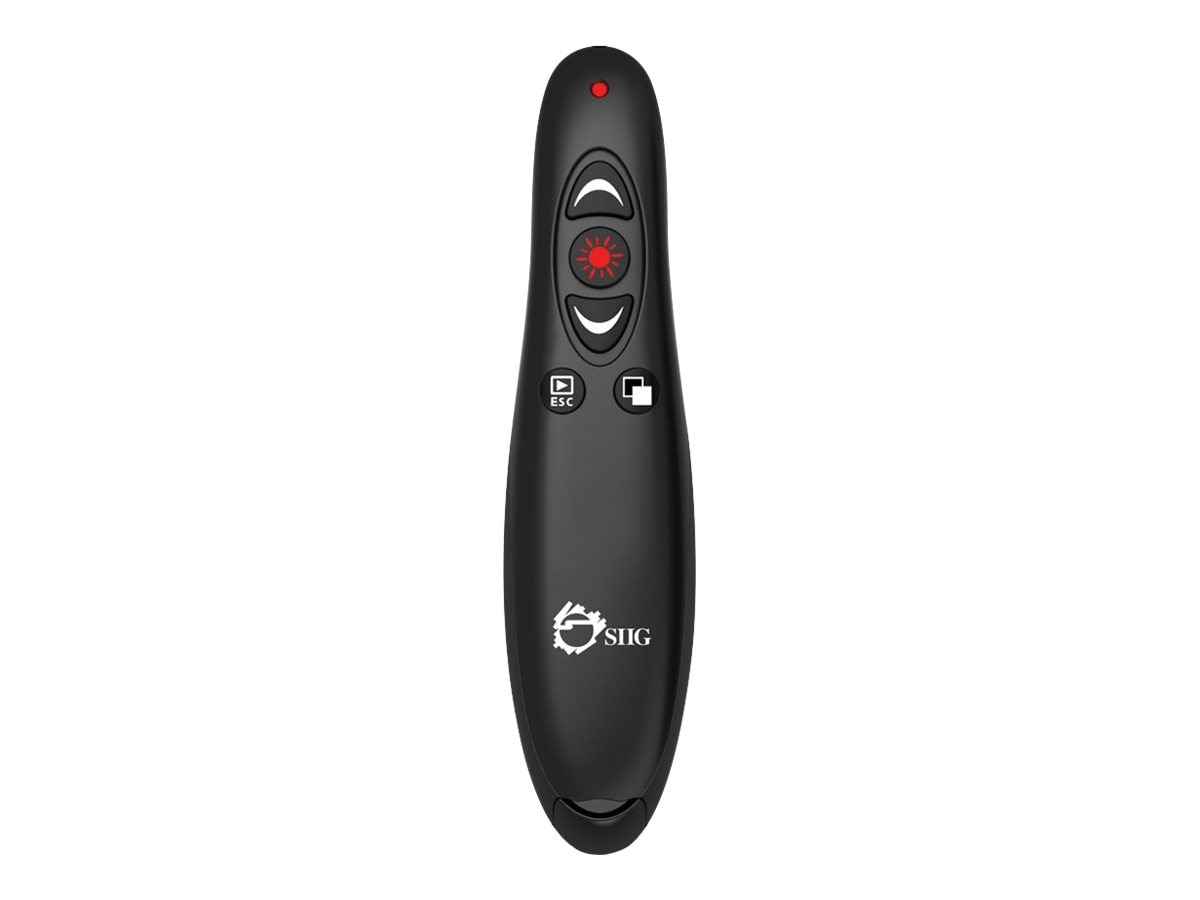 Siig 2.4GHz RF Wireless Presenter with Laser Pointer, CE-WR0112-S1