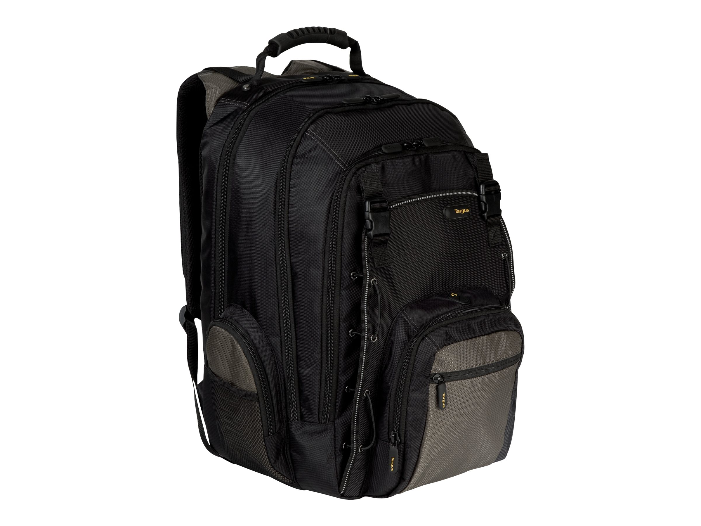 Targus CityGear 15.4 Chicago Notebook Backpack Black Gray Yellow, TCG650, 5114251, Carrying Cases - Notebook