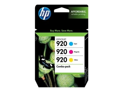 HP 920 (N9H55FN) Cyan Magenta Yellow Original Ink Cartridge Combo Pack
