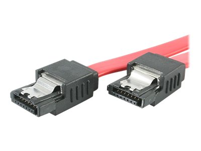 StarTech.com Latching SATA Cable M-M Straight 18, LSATA18