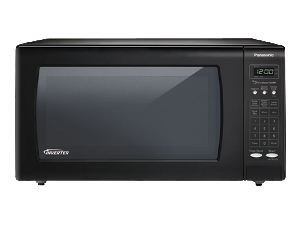 Panasonic 1.6 Cubic Feet Countertop Sensor Microwave Oven, Black, NN-SN733-B, 17238605, Home Appliances