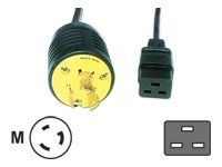Eaton Power Adapter Cable, C19 to L5-20P, Black, 8ft, 010-9339, 9461268, Power Cords
