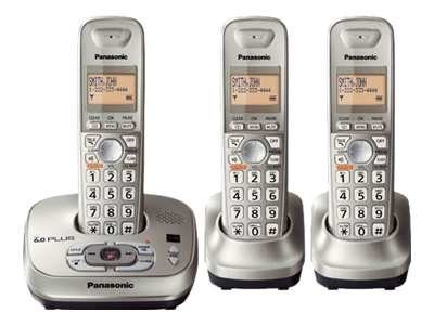 Panasonic 4000-Series DECT 6.0 Phone with (3) Handsets, KX-TG4023N