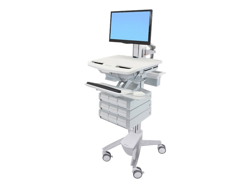 Ergotron StyleView Cart with LCD Pivot, 9 Drawers, SV43-1390-0, 18024764, Computer Carts - Medical