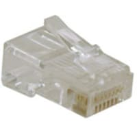 Tripp Lite RJ45 Plugs for Solid Stranded Conductor 4-pair Cat5e Cable, 10-Pack, N030-010, 9672874, Cable Accessories