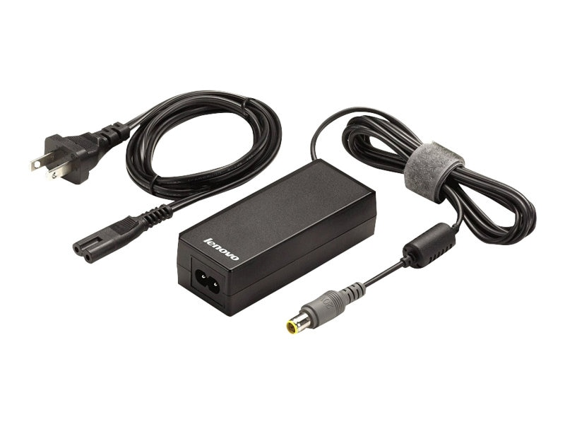 Lenovo ThinkPad 65W Ultraportable AC Adapter 2-prong for North America, 40Y7696