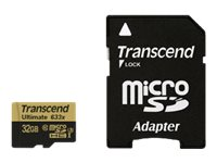 Transcend 32GB MicroSDHC UHS-I U3 Flash Memory Card, Class 10