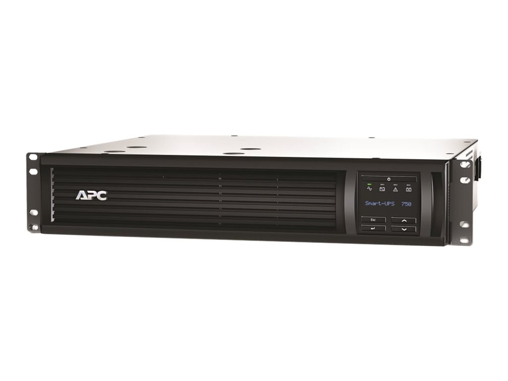 APC Smart UPS 750VA RM 120V LCD 2U L5-15P 8ft Cord, SMT750R2X122, 14732270, Battery Backup/UPS