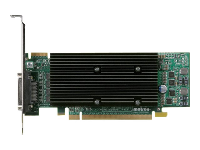 Matrox M9140 LP Quad Head Graphics Card, PCI Express, 512MB, M9140-E512LAF, 8786271, Graphics/Video Accelerators