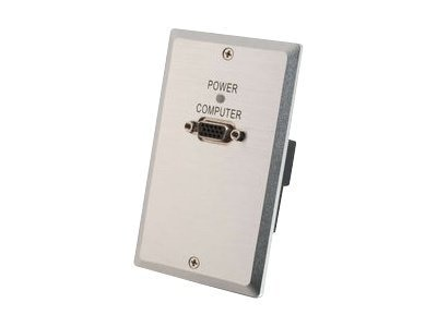 C2G TruLink VGA over UTP Wall Plate Receiver, 29361, 13442131, Video Extenders & Splitters