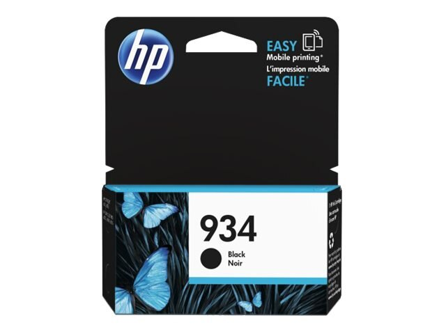 HP 934 (C2P19AN) Black Original Ink Cartridge, C2P19AN#140, 17455095, Ink Cartridges & Ink Refill Kits