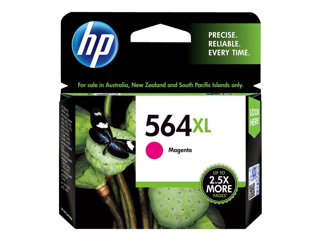 HP 564XL (CB324WN) High Yield Magenta Original Ink Cartridge, CB324WN#140, 8608256, Ink Cartridges & Ink Refill Kits