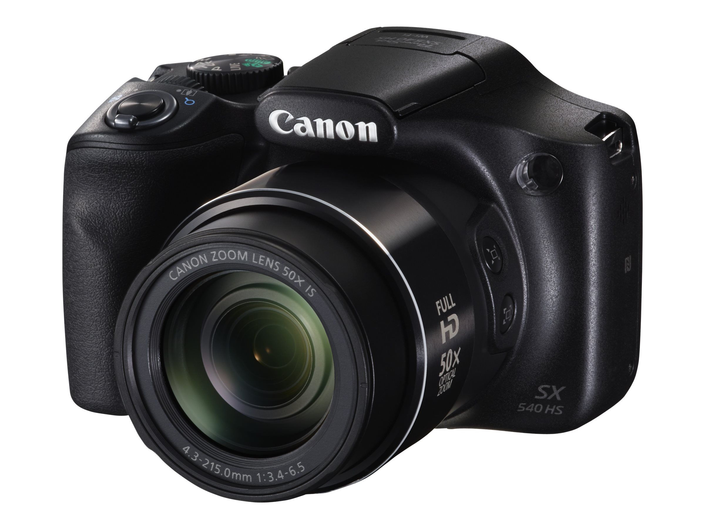 Canon PowerShot SX540 HS Digital Camera, Black, 1067C001, 31824176, Cameras - Digital - Point & Shoot