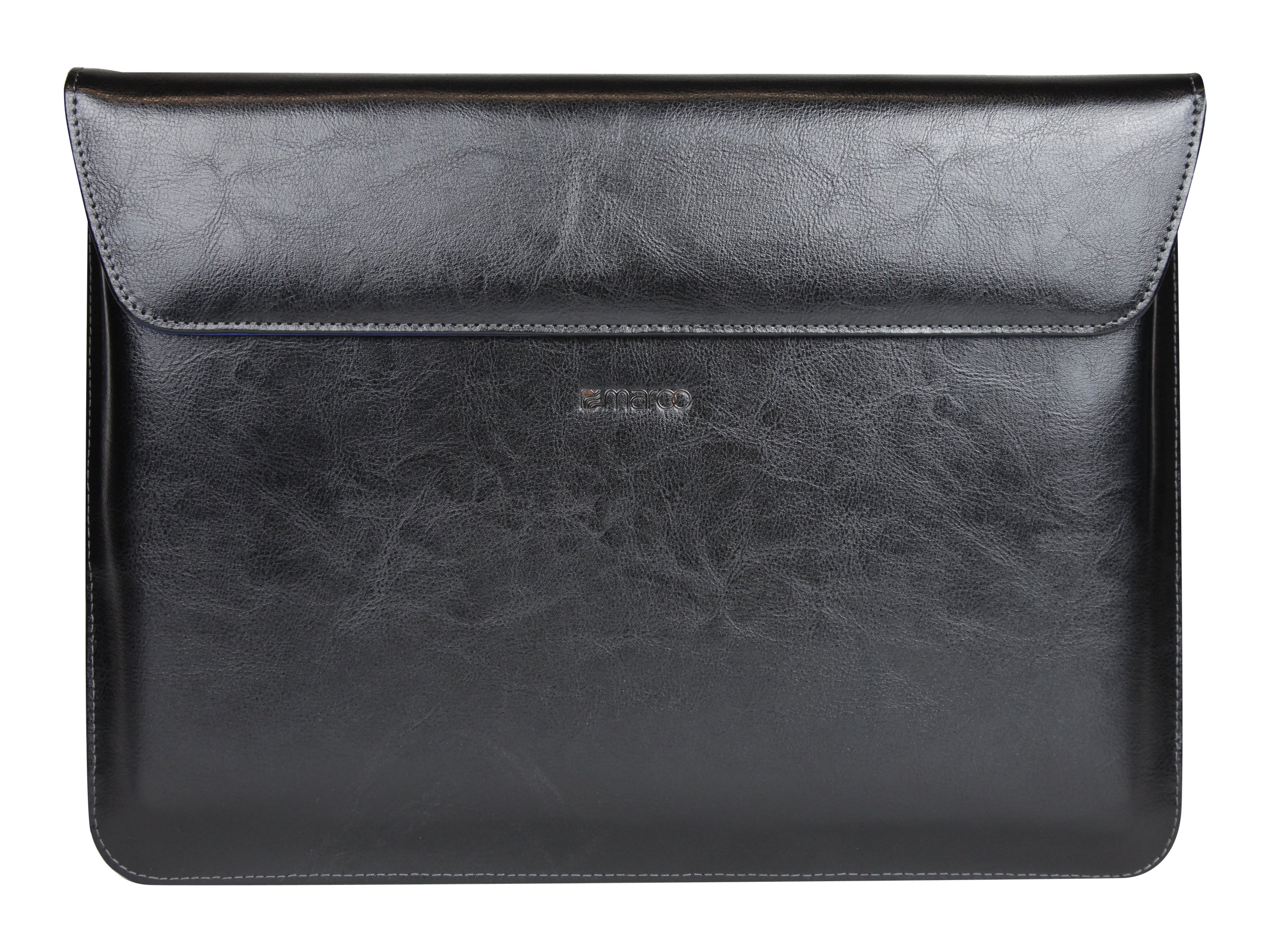 Cyber Acoustics Maroo Surface Book Leather Sleeve, Magnetic Fold, Marbled Black