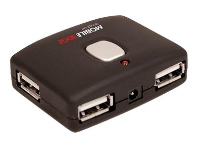 Mobile Edge 4-Port USB Hub- Push Button Connector, MEAH02, 9072756, USB & Firewire Hubs