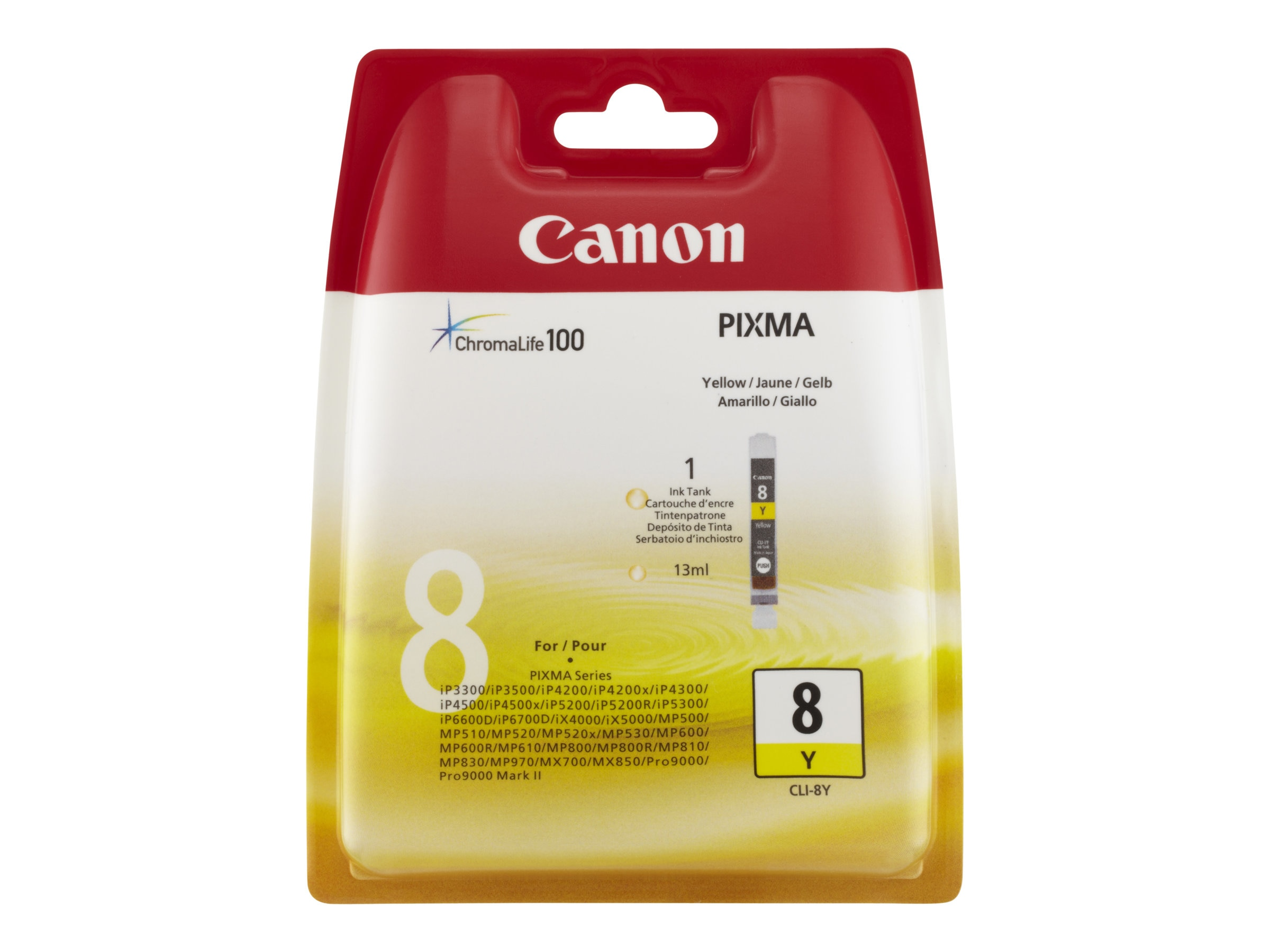 Canon Yellow CLI-8Y Ink Tank for PIXMA Series Printers, 0623B002