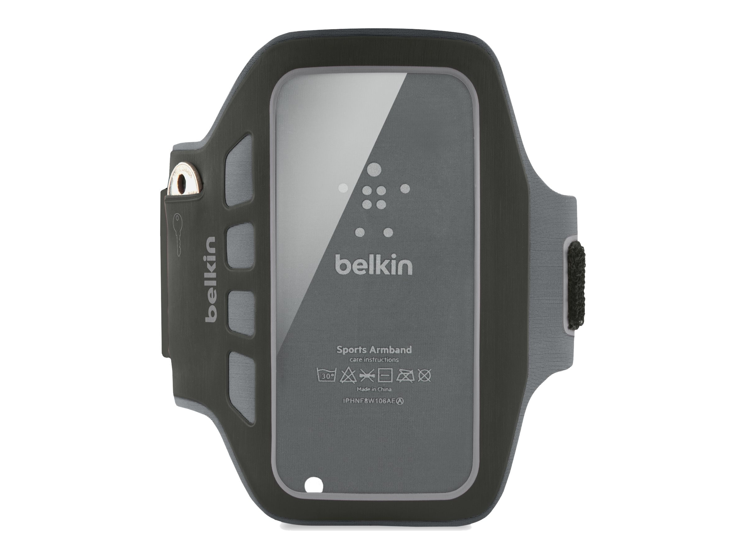 Belkin Ease-Fit Plus Armband, Blacktop for iPhone5, F8W106TTC00, 14860693, Carrying Cases - Phones/PDAs