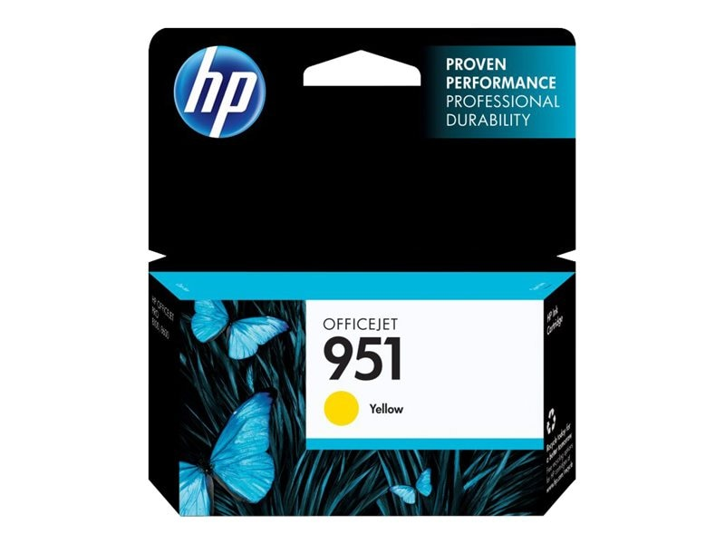 HP 951 (CN052AN) Yellow Original Ink Cartridge, CN052AN#140, 12974321, Ink Cartridges & Ink Refill Kits